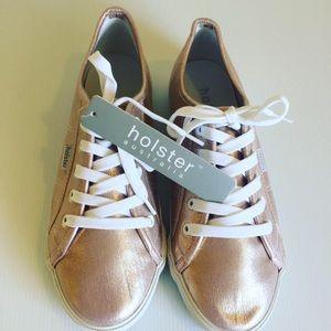 NWT HOLSTER vegan EUR sz 38 metallic rose sneakers